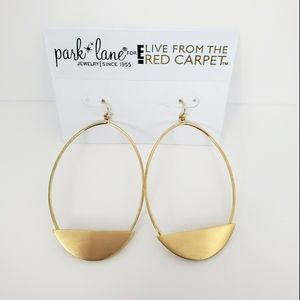 NWT Park Lane for E! Gold Oval Earrings